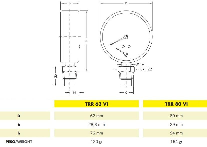 Cewal TRR 80 VI термоманометр радиальный купить_Cewal TRR 80 VI термоманометр радиальный запорожье_Cewal TRR 80 VI термоманометр радиальный интернет магазин купить
