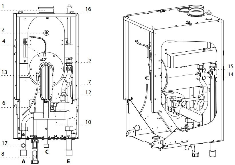 конструктивная схема GENUS PREMIUM EVO HP 85/100  kW