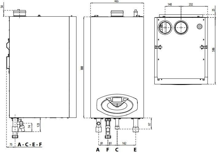 GENUS PREMIUM EVO HP 85 100 габаритные размеры