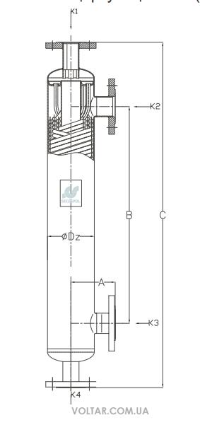 Теплообменник кожухотрубный (кожухотрубчатый) типа КНГ Минеральные Воды Кожухотрубный испаритель WTK SFE 340 Архангельск