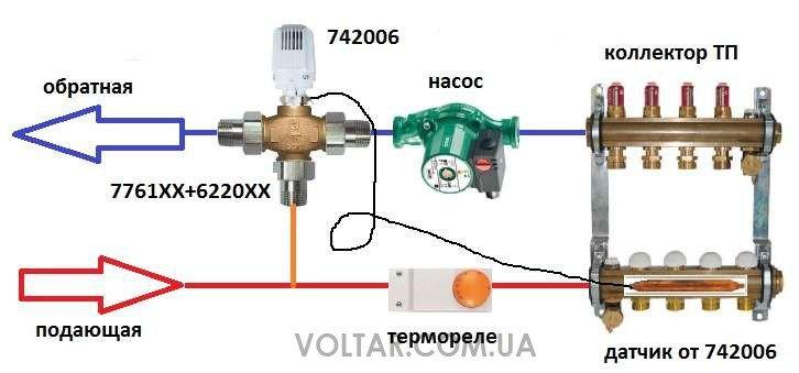 Схема установки трехходового клапана фото 321